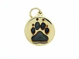 Round Paw C162BY Tag/Rhodium Black