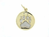 Round Paw C162BY Tag/Rhodium White