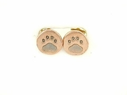 Round Paw ER162CR Tag Post Earring (RG)
