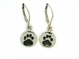 Round Paw ER162CW Tag/Rhodium Lever Back Earring (WG)
