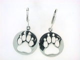 Round Paw ER512B Open Lever Back Earring