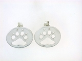Round Paw ER512B Open Post Earring