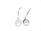 Round Paw ER512C Open Lever Back Earring