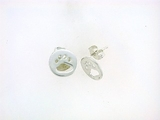 Round Paw ER512C Open Post Earring