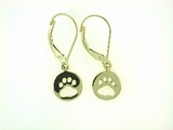 Round Paw ER512CY Open Lever Back Earring