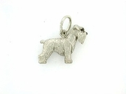 Schnauzer C249W Uncropped Ears/Rhodium E&N (WG)