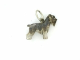 Schnauzer C249W Uncropped Ears/Rhodium (WG)