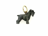 Schnauzer C249Y Uncropped Ears/Rhodium Black