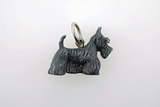 Scottish Terrier C034W/Rhodium Black (WG)