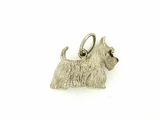 Scottish Terrier C034W/Rhodium E&N (WG)