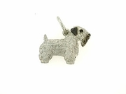 Sealyham Terrier C316W/Rhodium (WG)