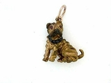 Shar Pei C033R/Rhodium Color & 12-Black D Collar & Cognac D Eyes (RG)