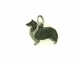 Shetland Sheepdog C311W (Shelty)/Rhodium Black & White (WG)