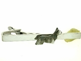 Skye Terrier C317W/Rhodium on Silver Tie Bar