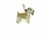 Soft Coated Wheaten Terrier C297W/Rhodium Color (WG)