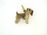 Soft Coated Wheaten Terrier C297Y/Rhodium