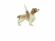 Welsh Springer Spaniel C338W/Rhodium Color (WG)