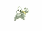 West Highland Terrier C275W/Rhodium & 9-White D Collar (WG)