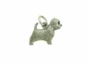 West Highland Terrier C275W/Rhodium E&N & 9-White D Collar (WG)