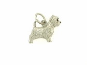 West Highland Terrier C275W/Rhodium E&N & White (WG)