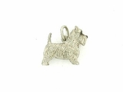 West Highland Terrier K035W/Rhodium E&N (18KWG)