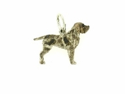 Wirehaired Pointing Griffon C354W/Rhodium Color (WG)