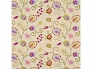 BAKER LIFESTYLES FOXWOOD EMBROIDERY FABRIC LIME MULTI