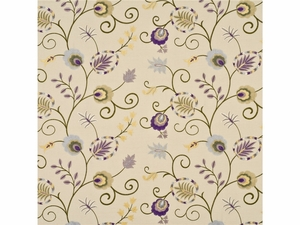 BAKER LIFESTYLES FOXWOOD EMBROIDERY FABRIC OPAL SAGE