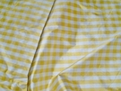 BARANZELLI SCALAMANDRE LUCIA FRENCH COUNTRY SILK CHECK FABRIC YELLOW WHITE