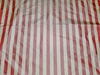 BARANZELLI SCALAMANDRE PENELOPE STRIPES SILK TAFFETA FABRIC ROSE CREAM