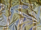 BARANZELLI SEABREEZE SATIN STRIPES SILK TAFFETA FABRIC PACIFIC BLUE