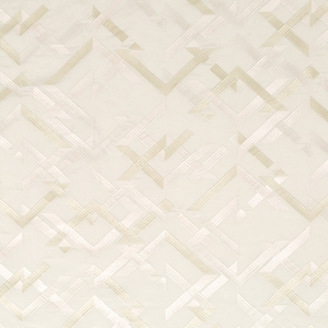 BEACON HILL ABSTRACT FRET SILK JACQUARD EMBROIDERED FABRIC TRAVERTINE