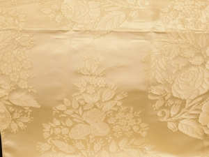 BEACON HILL AMAZON FLOWER SILK JACQUARD EMBROIDERED FABRIC IVORY