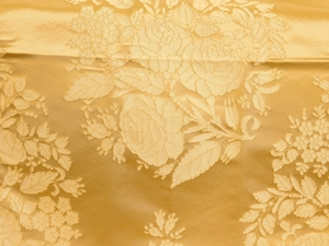 BEACON HILL AMAZON FLOWER SILK JACQUARD EMBROIDERED FABRIC TRAVERTINE
