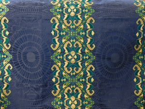 BEACON HILL AMMOLITE EMBLEMS EMBROIDERED FABRIC NAVY