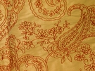 BEACON HILL AUGUSTUS SILK GRANDEUR EMBROIDERED FABRIC SPICE