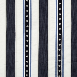 BEACON HILL AURORA STRIPE COTTON STRIPE FABRIC INDIGO