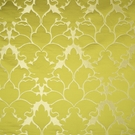 BEACON HILL BLOSSOM FRAME SILK JACQUARD EMBROIDERED FABRIC CHARTREUSE
