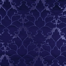 BEACON HILL BLOSSOM FRAME SILK JACQUARD EMBROIDERED FABRIC NAVY