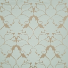 BEACON HILL BLOSSOM FRAME SILK JACQUARD EMBROIDERED FABRIC SKY