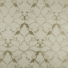 BEACON HILL BLOSSOM FRAME SILK JACQUARD EMBROIDERED FABRIC STERLING