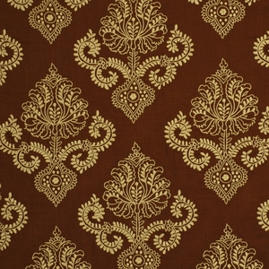 BEACON HILL CERVANTES LINEN EMBROIDERY FABRIC TEAK