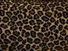 BEACON HILL CHEETAH VELVET ANIMALE VISCOSE UPHOLSTERY FABRIC WALNUT GOLD