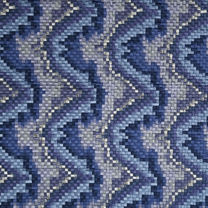 BEACON HILL COPA MOSAIC SILK FABRIC INDIGO