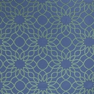 BEACON HILL COROA SILK LINEN JACQUARD EMBROIDERED FABRIC ISLAND BLUE