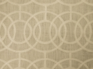 BEACON HILL CROSBY ICONIC EMBROIDERED GEOMETRIC LINEN FABRIC IVORY