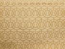 BEACON HILL CROSBY ICONIC EMBROIDERED GEOMETRIC LINEN FABRIC NATURAL