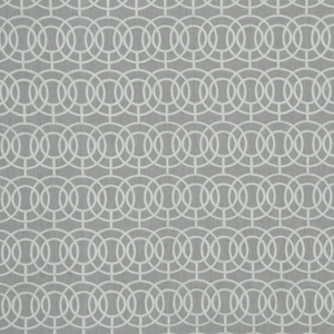 BEACON HILL CROSBY ICONIC EMBROIDERED GEOMETRIC LINEN FABRIC STONE