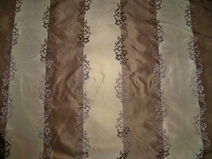 BEACON HILL IRIDESCENT LISERE STRIPES SILK TAFFETA FABRIC 10 YARDS