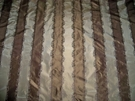 BEACON HILL IRIDESCENT LISERE STRIPES SILK TAFFETA FABRIC 17  YARDS